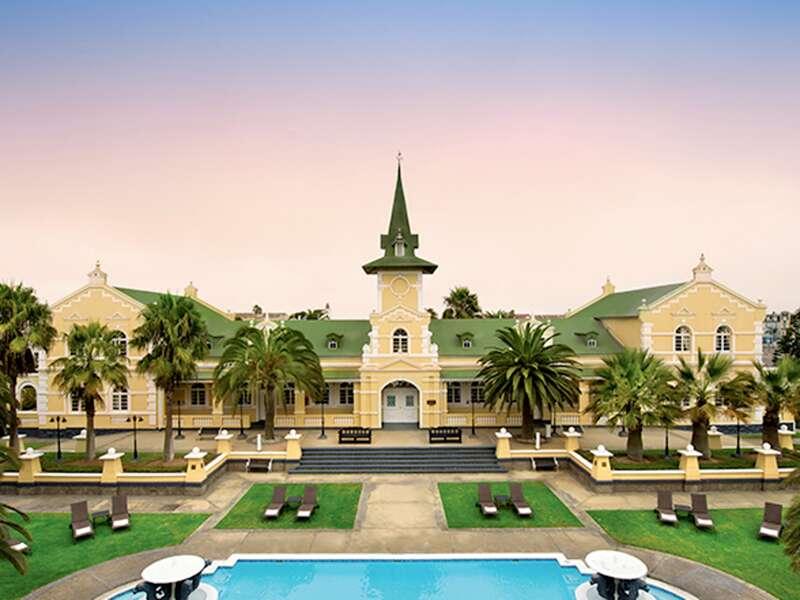 Wir übernachten drei Mal im komfortablen Swakopmund Hotel