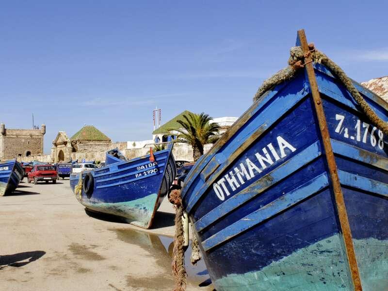 Auf unserer Studienreise durch Marokko genießen wir einen Aufenthalt in Essaouira am Atlantik.