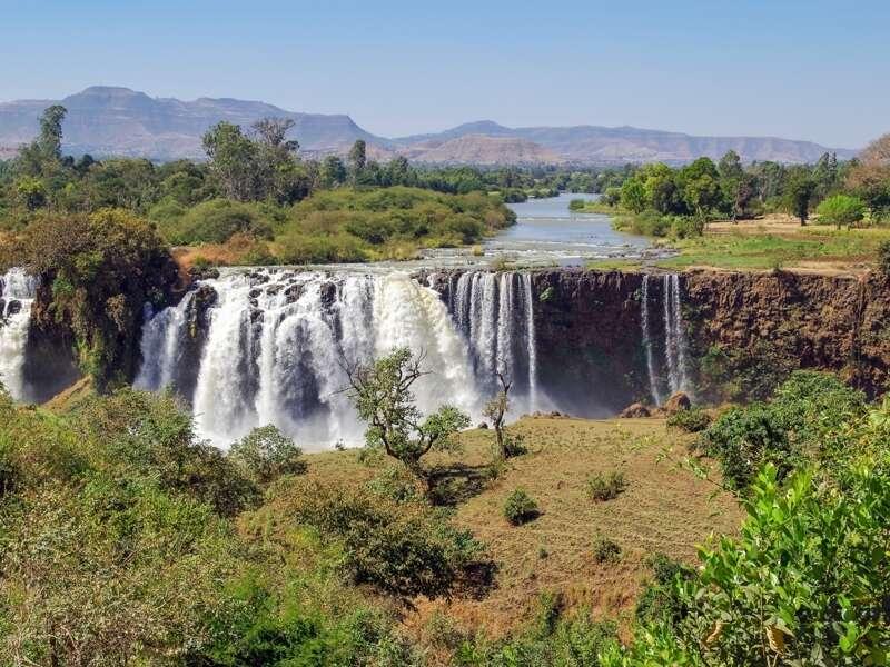 Ein Ausflug nach Tisisat, wo der Blaue Nil als zweitgrößter Wasserfall Afrikas in die Tiefe rauscht, steht auf dem Programm unserer Studienreise durch Äthiopien.