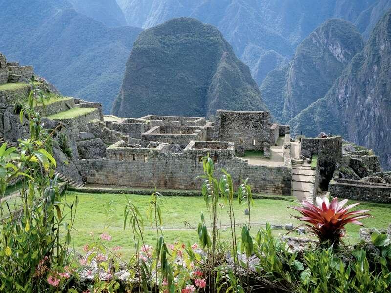 Ein Highlight unserer Studienreise durch Südamerika ist der Besuch der Inkafestung Machu Pichu.