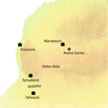 Karte der Highlights auf der Reise Marokko - entspannte Tage zwischen Meer und Wüste