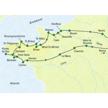 Überblickskarte der Highlights Normandie und Bretagne