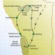 Route der me&more Reise Namibia