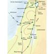 Reisekarte Israel - zwischen Jordanquelle und Negevwüste