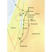 Reisekarte Jordanien Höhepunkte