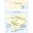 Reiseroute unserer 8-tägigen Islandreise mit Verlängerung auf Grönland