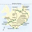 Reiseroute Island Naturstudienreise