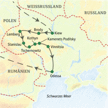 Reisekarte Ukraine - im Kreuzungspunkt der Kulturen