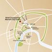 Stadtplan mit Ihrem Hotel in Moskau
