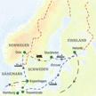 Reiseroute der Studienreise Skandinavien - Metropolen des Nordens