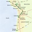 Reiseroute der Studienreise Chile-Bolivien-Peru