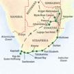 Die Route der Studienreise Preiswert durch Südafrika