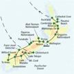 Reiseroute der Wanderreise durch Neuseeland