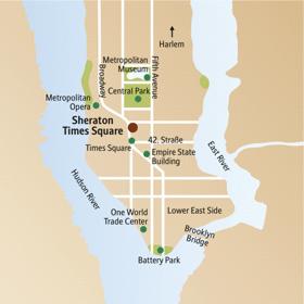 Stadtplan der Städtereise New York
