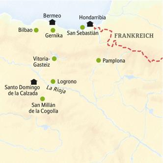 Die Stationen unserer Reise durchs Baskenland