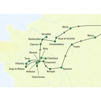 Karte der Reise Loire & Ile-de-France