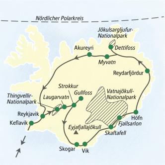 Preiswert wandern auf Island