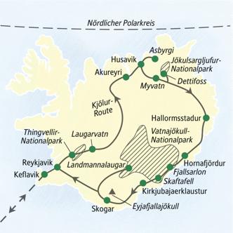 Auf einer Wander-Studienreise Island entdecken