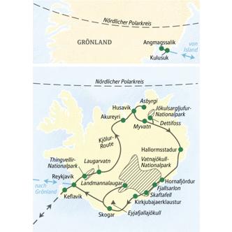Wandern auf Island mit Verlängerung in Ostgrönland