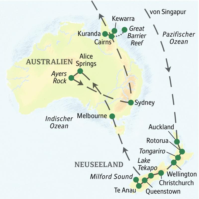 Australien-Neuseeland – zum Kennenlernen mit Singapur (ST 7810L ...