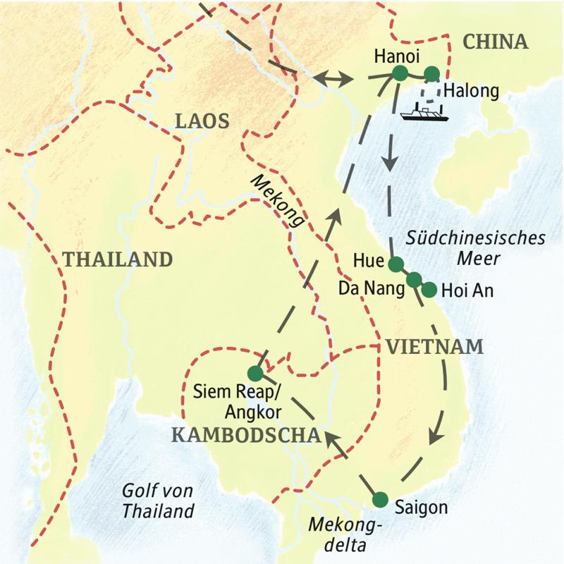 Malaria Kambodscha Karte.Studienreise Mit Studiosus Vietnam Kambodscha Mit Flair