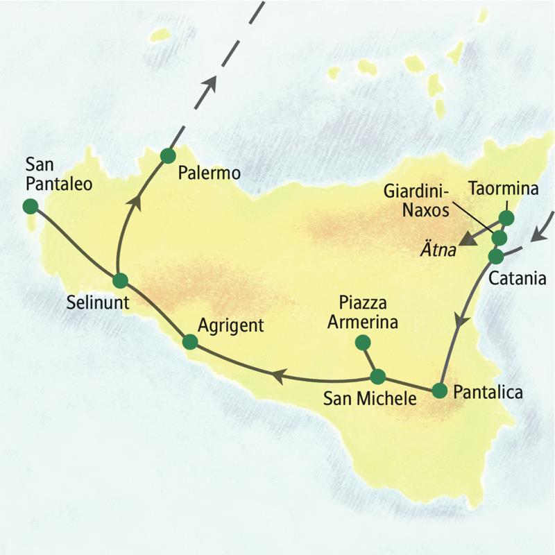 Sizilien Karte ätna.Sizilien Wo Der ätna Raucht Und Zitronen Blühen St 0545a