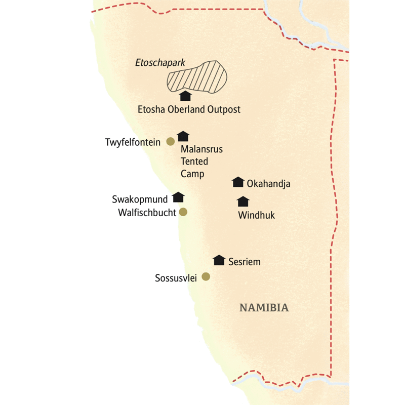 Namib Wüste Karte.Smart Small Mit Studiosus Namibia Allrad Abenteuer Mit Komfort