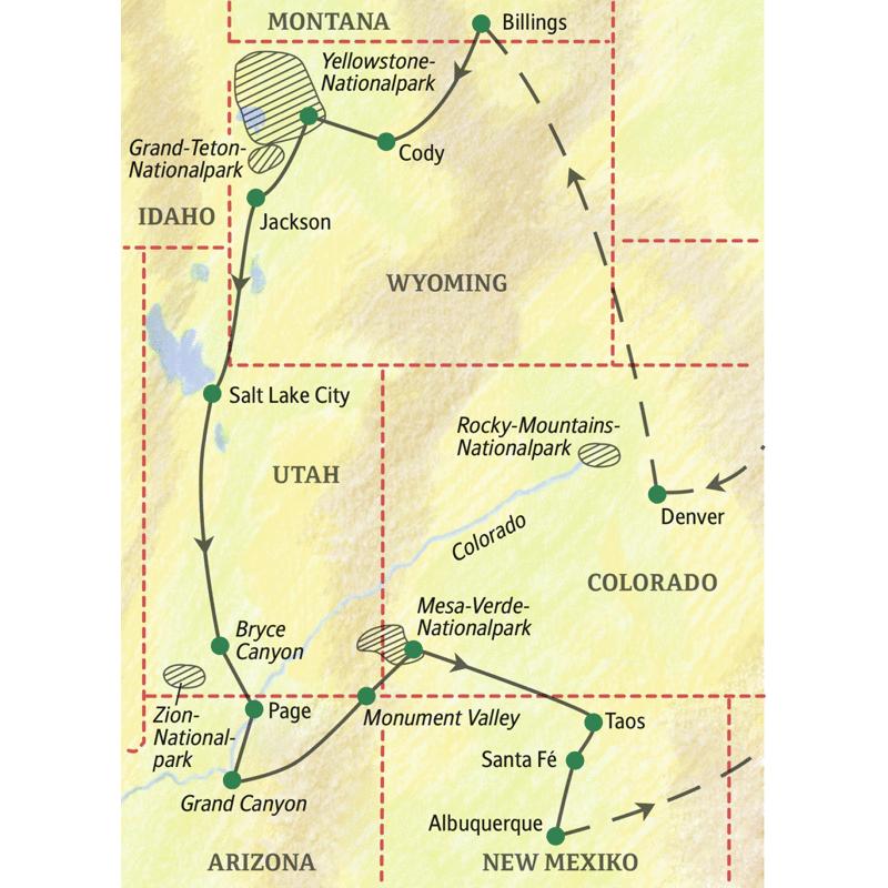 K303274ste Algarve Karte.Nationalparks Usa Karte Westen