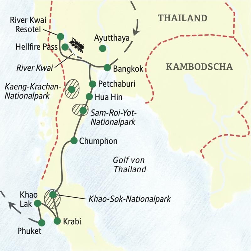 Studienreise mit Studiosus: Südthailand – Tempel, Dschungel und Strand
