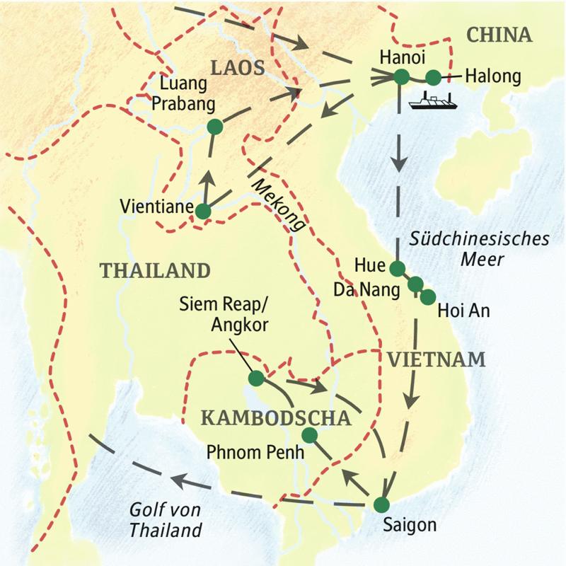 Studienreise mit Studiosus: Indochina – die umfassende Reise