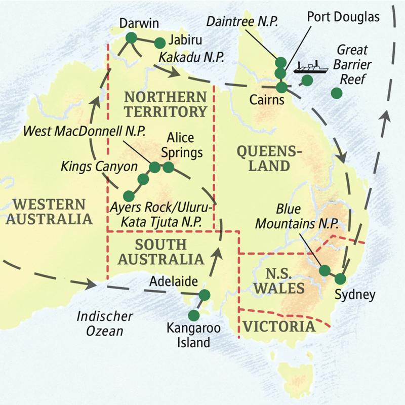 Natur erleben mit Studiosus: Australien – Naturwunder