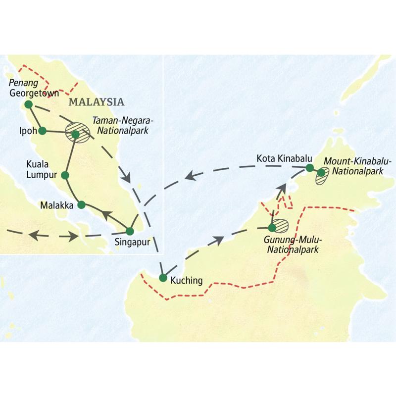 Studienreise mit Studiosus: Malaysia – mit Singapur und einer Woche Borneo