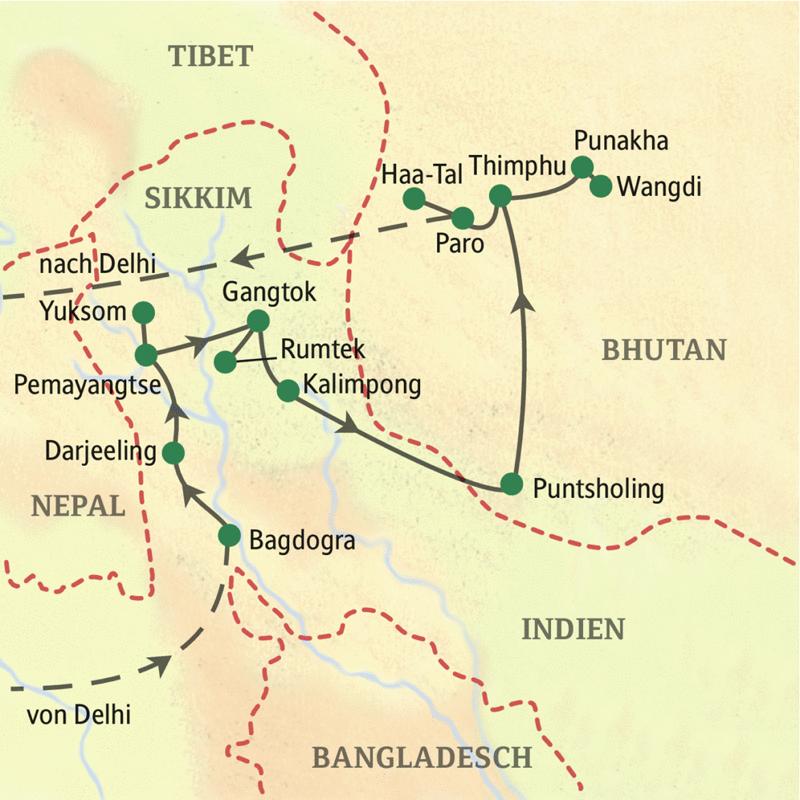 Studienreise mit Studiosus: Sikkim – Bhutan – Berggötter und Donnerdrachen