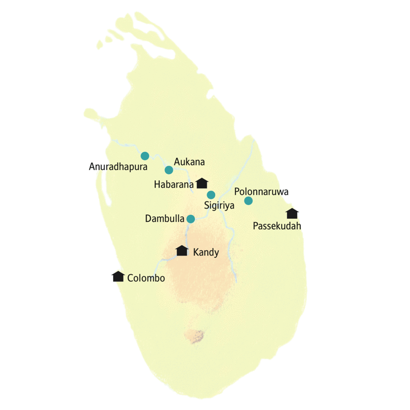 Auf der smart&small Rundreise Sri Lanka - Teepause im Dschungelparadies machen wir Station in Habarana, Passekudah und Kandy.