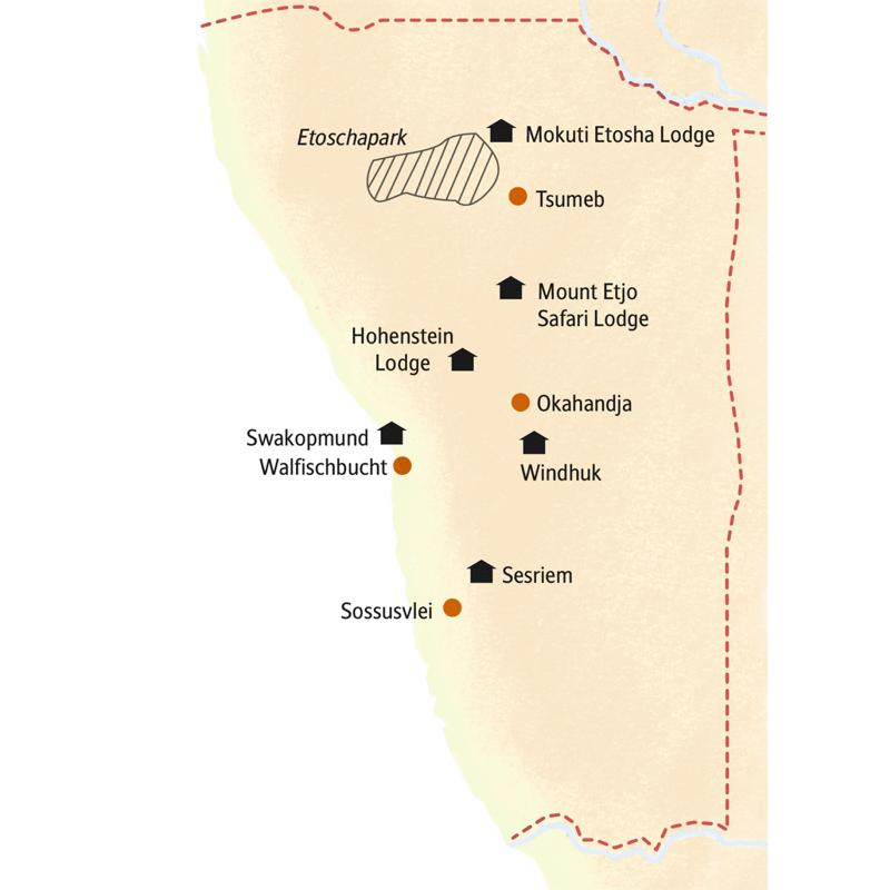 14 Tage Namibia mit Studiosus in kleiner Gruppe zu den Dünen der Namib und auf Safari im Etoschapark