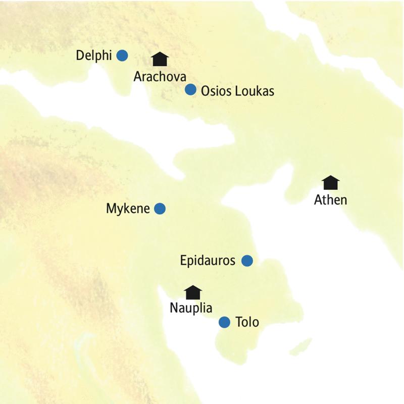 Unsere smart&small-Rundreise durch Griechenland führt u.a. über Athen, Delphi und Nauplia