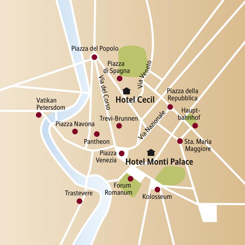 Auf unserer smart&small Reise  nach Rom sehen wir alle Höhepunkter der Ewigen Stadt, wie das Forum Romanum, das Kolosseum, den Petersdom, das Pantheon und vieles mehr.