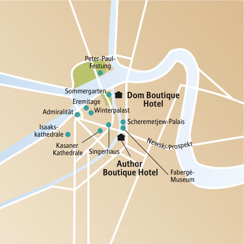 Unsere Städtereise nach St. Petersburg erschließt Ihnen die Stadt auf einer Rundfahrt, mit dem Besuch von Eremitage, Peterhof und Katharinenpalast mit dem berühmten Bernsteinzimmer. Außerdem auf dem Programm: die Isaakskathedrale, die Peter-Paul-Festung und das Fabergé-Museum.