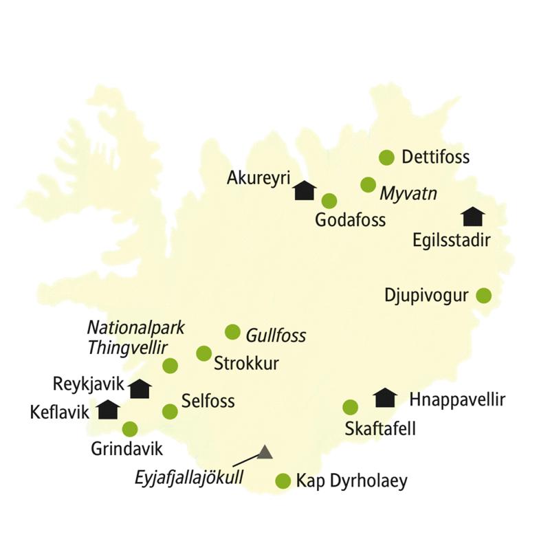 Auf der smart&small nach Island Urlaub reisen Sie in kleiner Gruppe zwischen Gletschern und Vulkanen.