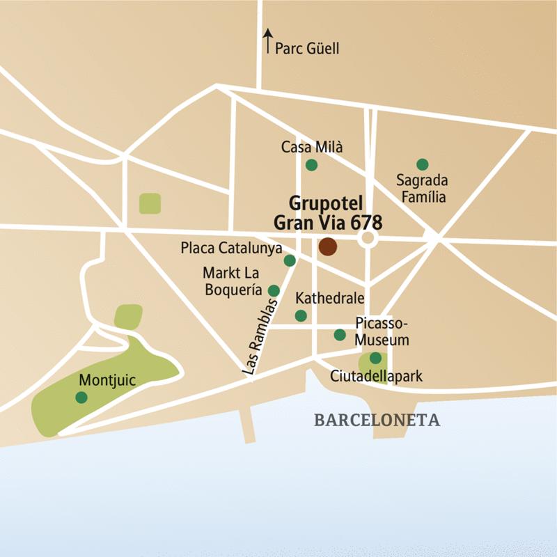 Genießen Sie auf dieser CityLights-Städtereise fünf Tage in Barcelona mit Studiosus-Reiseleiter: zwischen Jugendstilbauten und Stadtstrand, zwischen Las Ramblas und traditionellen Tapasbars. Mit Besuchen im Picasso-Museum, der Sagrada Família, von La Pedrera und dem Parc Güell.