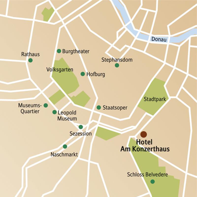 Fünf Tage zwischen k. u. k. Flair und Avantgarde: Entdecken Sie auf dieser CityLights-Städtereise mit Ihrer Studiosus-Reiseleiterin Wien von Hofburg bis Leopold Museum, von Schönbrunn bis Stephansdom. Sie wohnen zentral im Hotel Am Konzerthaus, ganz in der Nähe des Stadtparks und den Sehenswürdigkeiten in der Altstadt und entlang der Ringstraße.