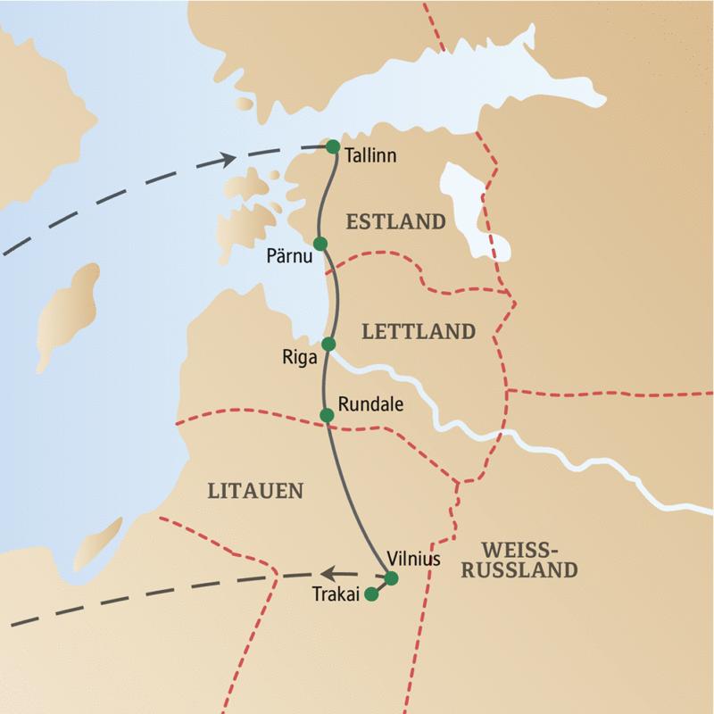Erleben Sie auf dieser CityLights-Städtereise Tallinn, Riga und Vilnius, die Metropolen der drei baltischen Länder.