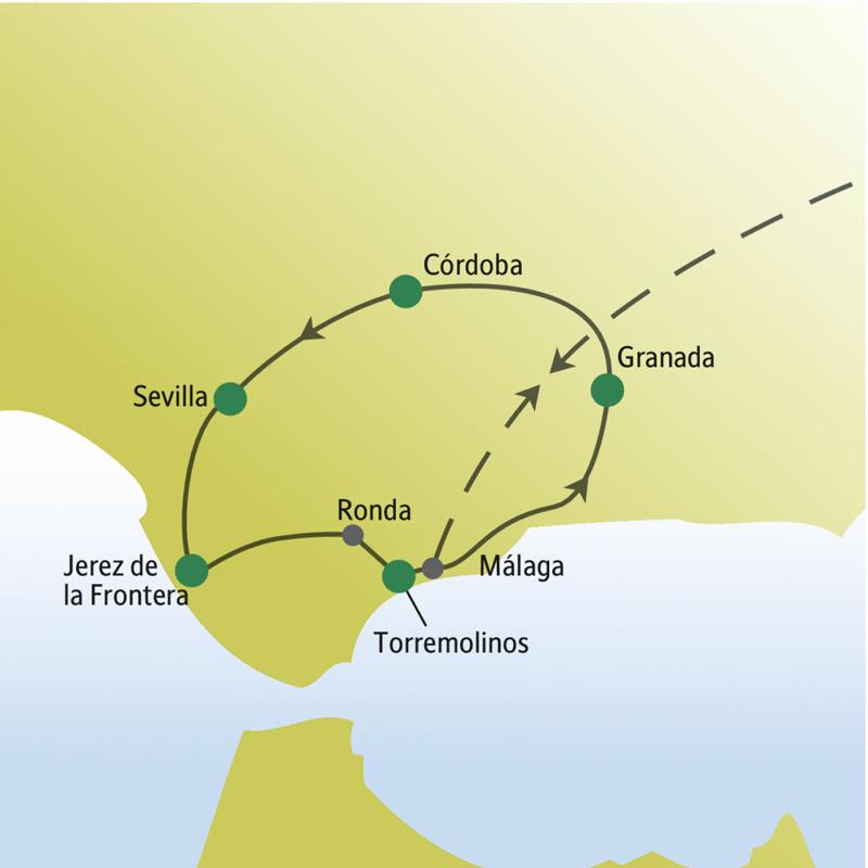 Zu Silvester wartet Andalusien mit wenig Besuchern auf unsere Gäste der me&more Reise für Singles und Alleinreisende. Verbringen Sie den Jahreswechsel im milden Spanien!