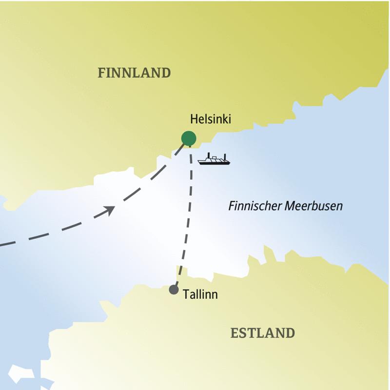 Auf dieser me&more Reise feiern Sie mit anderen Singles und Alleinreisenden Silvester in Helsinki und machen einen Abstecher nach Tallinn.