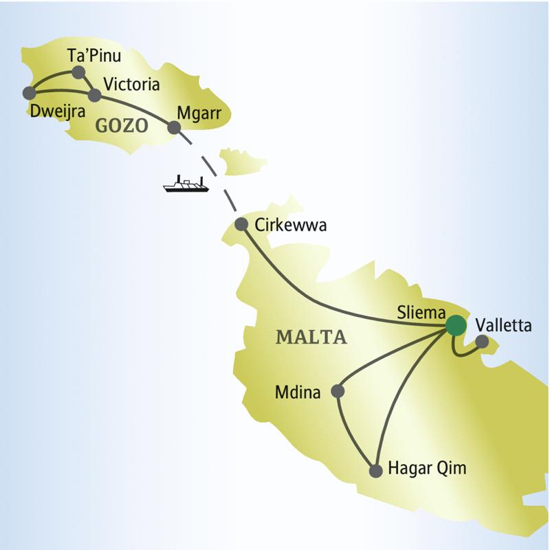 Auf dieser me & more-Reise lernen Sie die Inseln Malta und Gozo kennen.