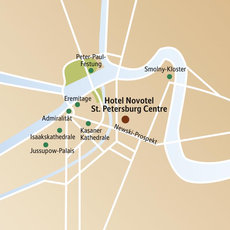 Kulturelle Höhepunkte wie Eremitage, Jussupow-Palais, Bernsteinzimmer, historische Orte wie die Peter-Paul-Festung - alles und mehr zu erleben auf unserer Städtereise nach St. Petersburg.