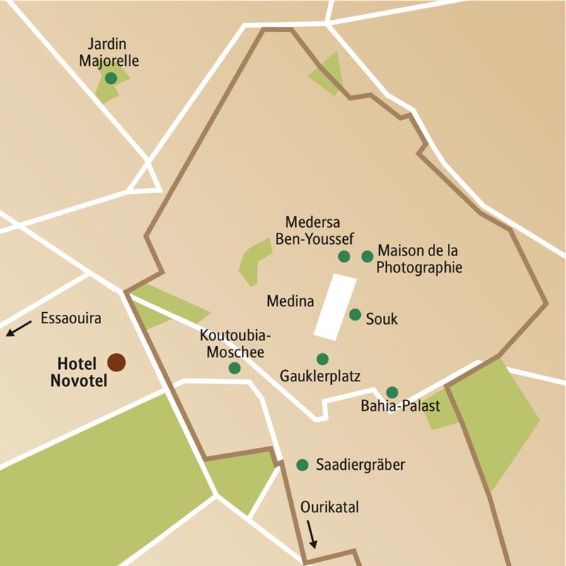 Auf unserer Silvesterreise für Singles und Alleinreisende erleben Sie nicht nur den Zauber des Orients in Marrakesch zur Jahreswende, sondern machen auch Ausflüge nach Essaouira und in den Hohen Atlas.