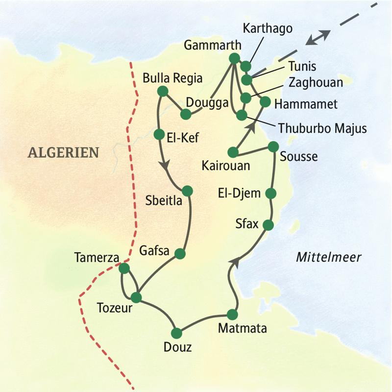 Diese Studienreise durch Algerien führt von der Mittelmeerküste bis in paradiesische Wüstenoasen.