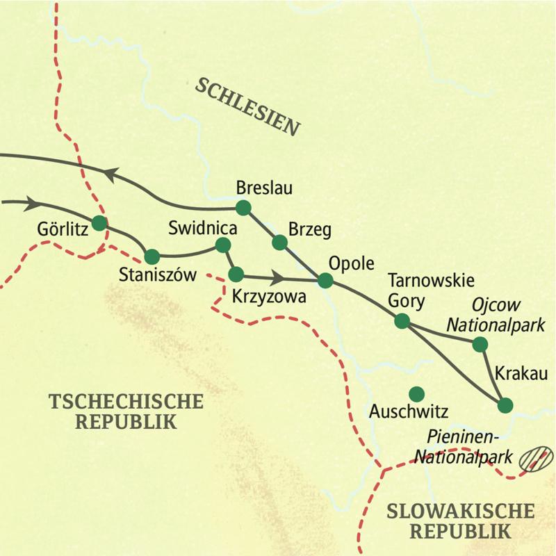 Genießen Sie Schlesien und Krakau auf gemütlichen Wegen mit Studiosus. Die elftägige Busreise führt Sie zu vielen Stätten des UNESCO-Welterbes; Sie erleben Land und Leute hautnah und mit Muße.