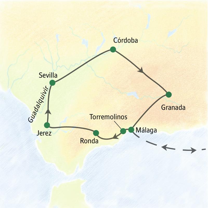 Auf dieser Studienreise sehen wir die Höhepunkte von Andalusien in Sevilla, Córdoba, Granada und Ronda.